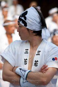 KYO Gion matsuri, homme en costume traditionnel lors des processions