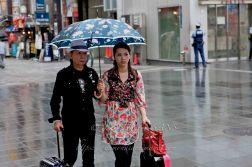 Jour de pluie à Osaka Dotombori