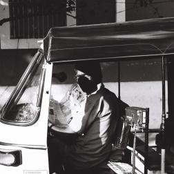 Pondichéry - chauffeur d'auto-rickshaw