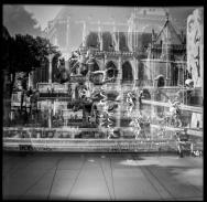 Fontaine Tinguely surimpressions - Paris Beaubourg - juillet 2019